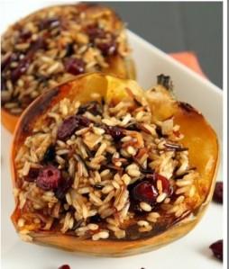acorn squash and wild rice