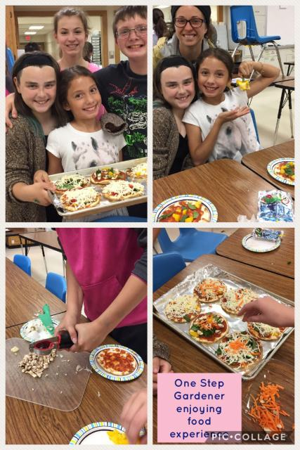 Mickle preparing veggie pizza